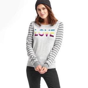 Gap | rainbow 'love' wool blend crew neck sweater